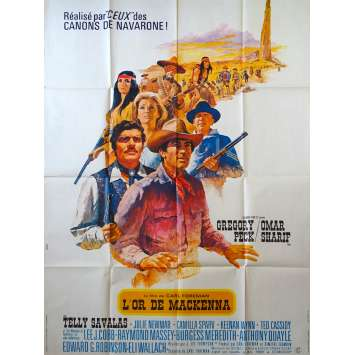 L'OR DE MACKENNA Affiche de film - 120x160 cm. - 1969 - Gregory Peck, J. Lee Thomson