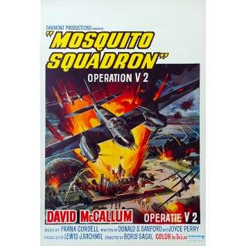 MOSQUITO SQUADRON Belgian Movie Poster 14x21 '69 Davd Mc Callum