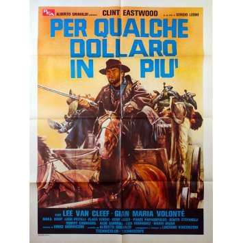 ET POUR QUELQUES DOLLARS DE PLUS Affiche de film 140x100 R1970 Eastwood Leone