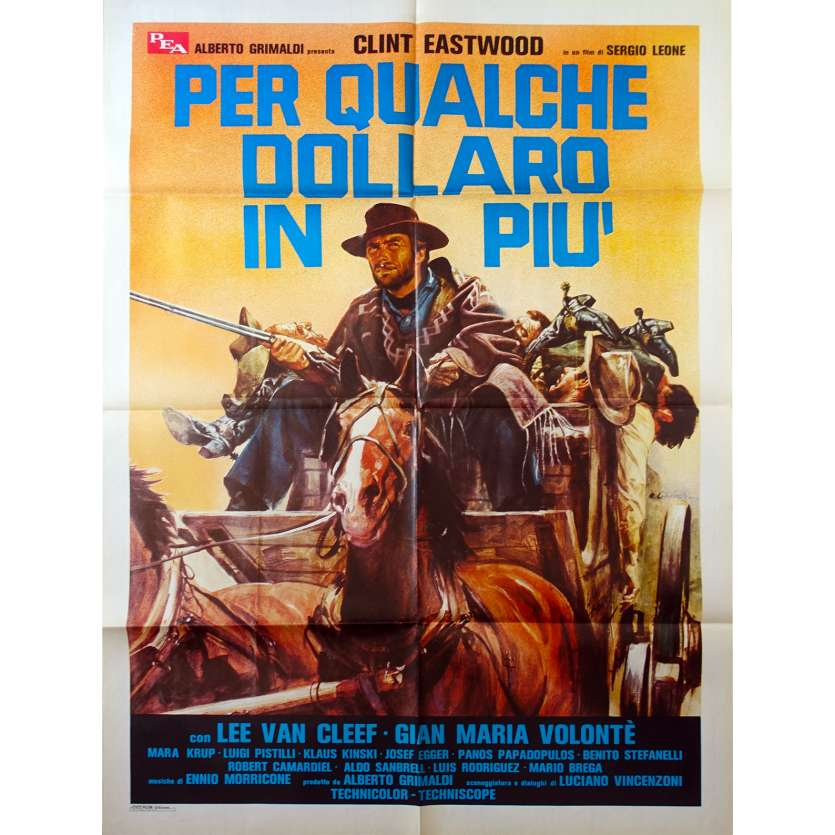 FOR A FEW DOLLARS MORE Italian Movie Poster 140x100 R70,Clint Eastwood western spaghetti