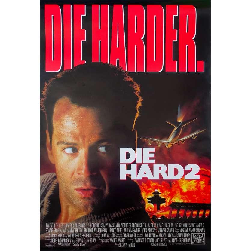 58 MINUTES POUR VIVRE Affiche de film 69x104 - 1990 - Bruce Willis, Die Hard II
