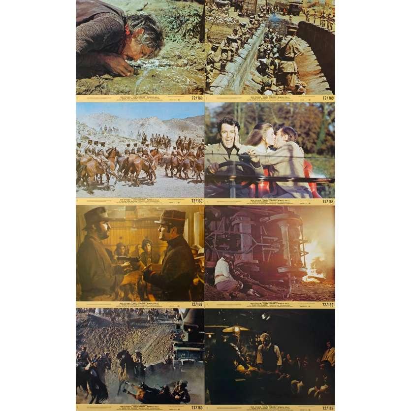 A FISTFUL OF DYNAMITE Original Lobby Cards x8 - 8x10 in. - 1971 - Sergio Leone, James Coburn