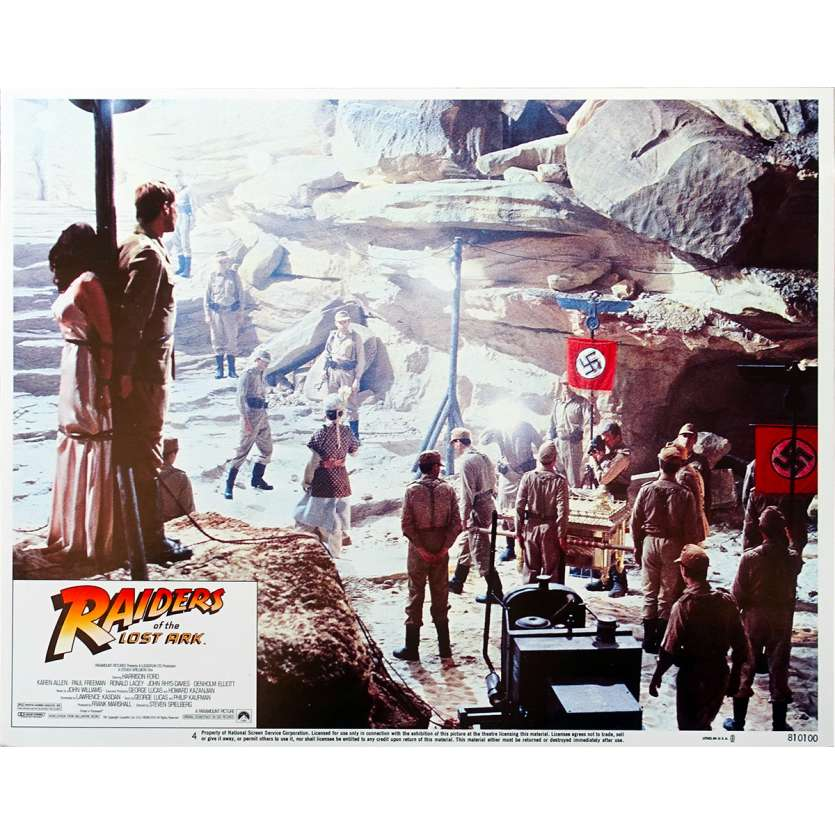 RAIDERS OF THE LOST ARK Ultra-rare 11x14 Original Lobby Card N4 '81 Spielberg