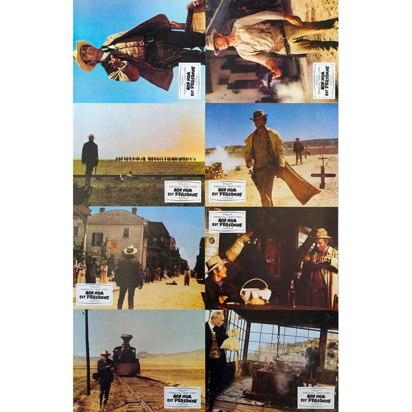 MY NAME IS NOBODY French Lobby Card Set - 1973 - Henry Fonda, Terence Hill Original French Set