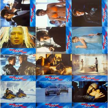 JAMES BOND Die another Day French Lobby Cards x12 '02 P. Brosnan 007