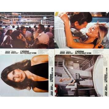 JAMES BOND L'HOMME AU PISTOLET D'OR Photos x4 '74 R. Moore 007 Lobby Cards