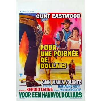 POUR UNE POIGNEE DE DOLLARS Affiche de film - 35x55 cm. - R1970 - Clint Eastwood, Sergio Leone