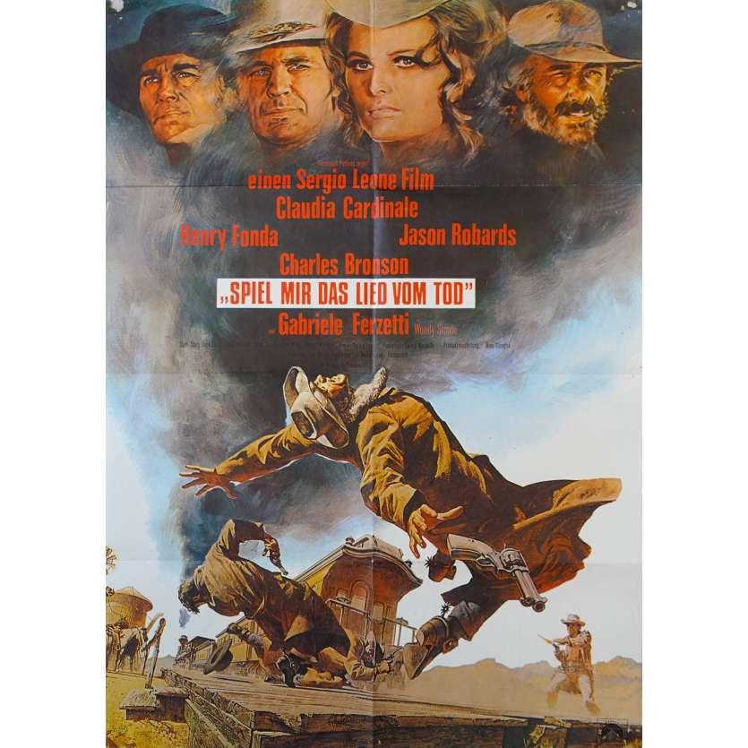 IL ETAIT UNE FOIS DANS L'OUEST Affiche de film - 59x84 cm. - R1970 - Henry Fonda, Sergio Leone