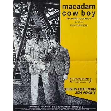 MIDNIGHT COWBOY Original Movie Poster - 15x21 in. - R1980 - John Schlesinger, Dustin Hoffman
