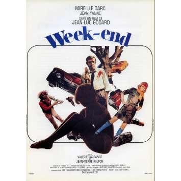 WEEK END French Herald 9x12 - 1967 - Jean-Luc Godard, Mireille Darc, Jean Yanne
