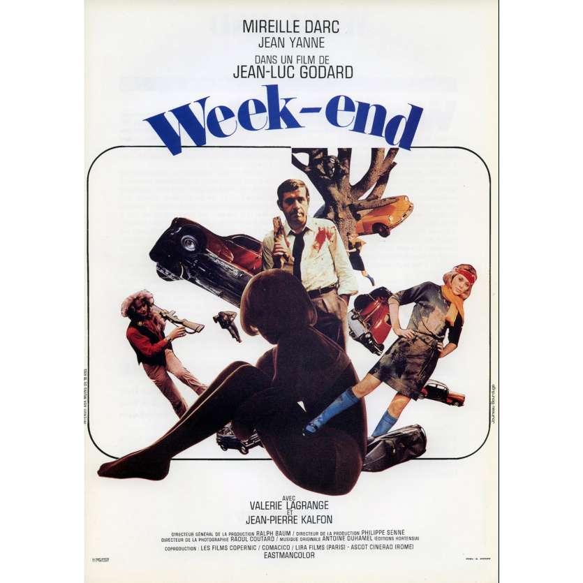 WEEK END Synopsis 21x30 - 1967 - Mireille Darc, Jean Yanne, Jean-Luc Godard