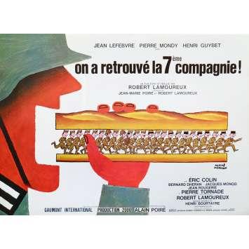 ON A RETROUVE LA 7EME COMPAGNIE Synopsis 6p 21x30 - 1975 - Jean Lefebvre, Pierre Mondy, Robert Lamoureux