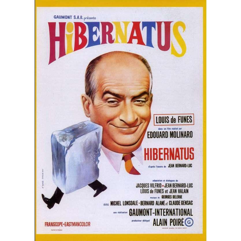 HIBERNATUS French Herald 9x12 - 1969 - Edouard Molinaro, Louis de Funes