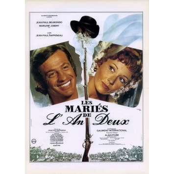 LES MARIES DE L'AN DEUX Synopsis 21x30 - 1971 - Jean-Paul Belmondo, Jean-Paul Rappeneau
