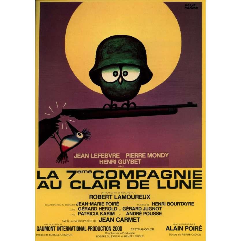 LA 7E COMPAGNIE AU CLAIR DE LUNE Synopsis 21x30 - 1977 - Jean Lefebvre, Pierre Mondy, Robert Lamoureux