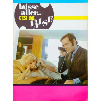 TAKE IT EASY, IT'S A WALTZ French Herald 6p 9x12 - 1971 - Georges Lautner, Jean Yanne