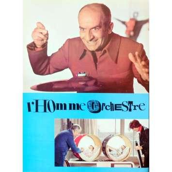 L'HOMME ORCHESTRE Synopsis 6p 21x30 - 1970 - Louis De Funes, Serge Korber