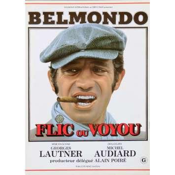 FLIC OU VOYOU Synopsis 2p 21x30 - 1979 - Jean-Paul Belmondo, Georges Lautner