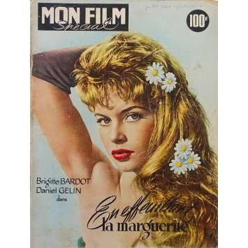 MON FILM Original Magazine - 9x12 in. - 1957 - Brigitte Bardot, James Dean