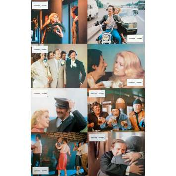 COURAGE LET'S RUN Original Lobby Cards x8 - 9x12 in. - 1979 - Yves Robert, Catherine Deneuve