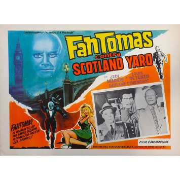FANTOMAS VS SCOTLAND YARD Original Lobby Card N01 - 11x14 in. - 1967 - Jean Marais, Louis de Funès