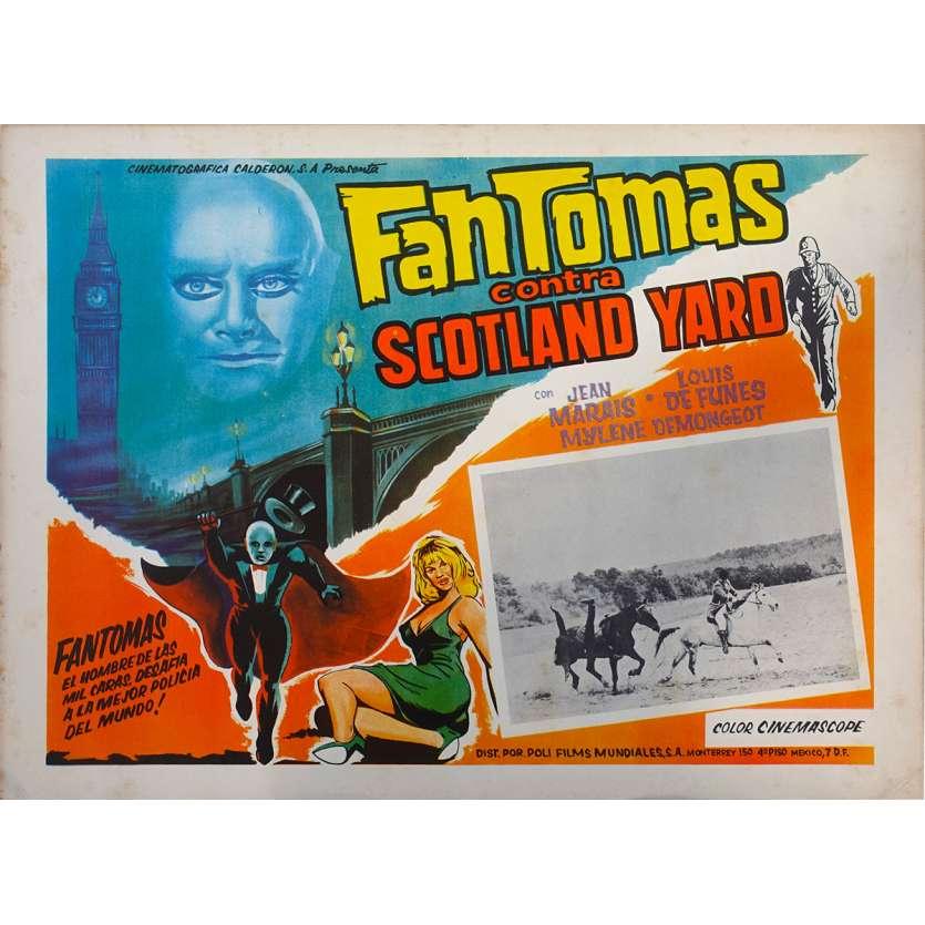 FANTOMAS VS SCOTLAND YARD Original Lobby Card N02 - 11x14 in. - 1967 - Jean Marais, Louis de Funès