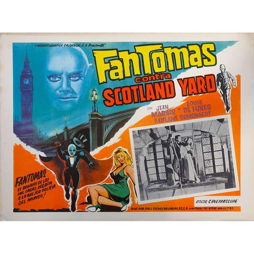 FANTOMAS VS SCOTLAND YARD Original Lobby Card N03 - 11x14 in. - 1967 - Jean Marais, Louis de Funès