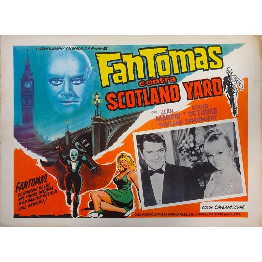 FANTOMAS VS SCOTLAND YARD Original Lobby Card N04 - 11x14 in. - 1967 - Jean Marais, Louis de Funès