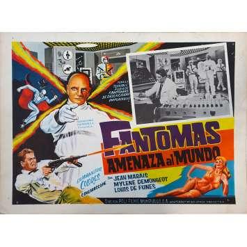 FANTOMAS UNLEASHED Original Lobby Card N01 - 11x14 in. - 1965 - André Hunebelle, Jean Marais, Louis de Funès