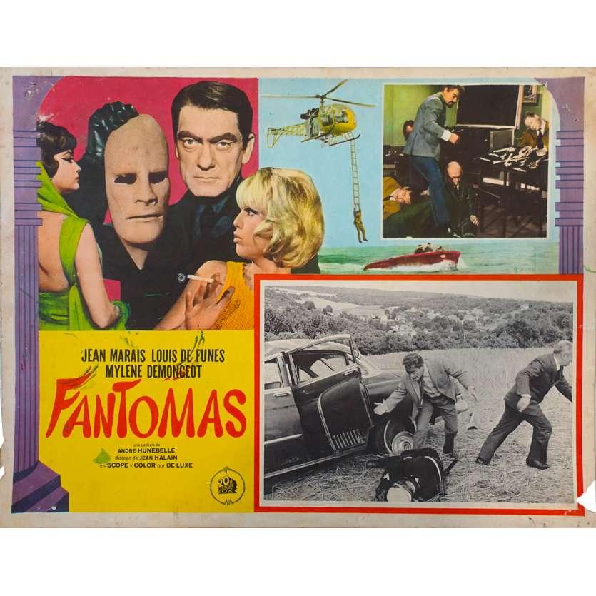 FANTOMAS Original Lobby Card N01 - 11x14 in. - 1964 - André Hunebelle, Jean Marais, Louis de Funès