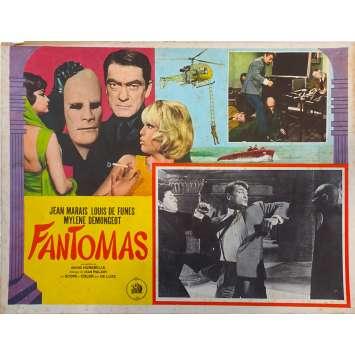FANTOMAS Original Lobby Card N02 - 11x14 in. - 1964 - André Hunebelle, Jean Marais, Louis de Funès