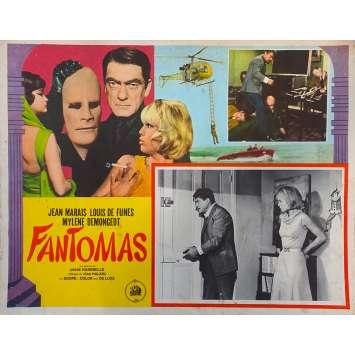 FANTOMAS Original Lobby Card N03 - 11x14 in. - 1964 - André Hunebelle, Jean Marais, Louis de Funès