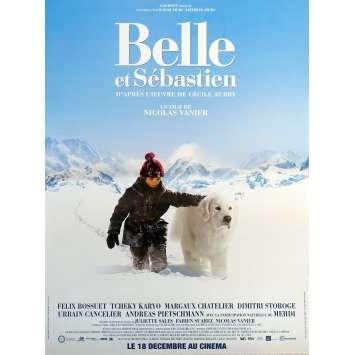 BELLE & SEBASTIAN Original Movie Poster - 15x21 in. - 2013 - Nicolas Vanier, Félix Bossuet