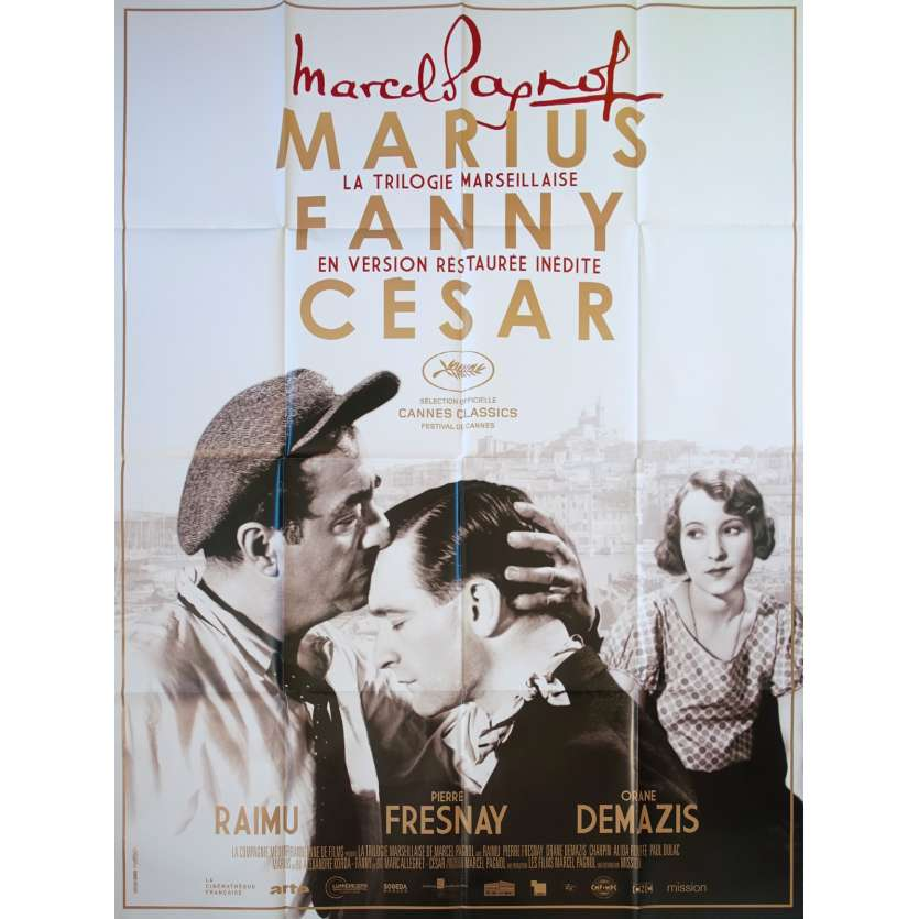 MARCEL PAGNOL FESTIVAL Original Movie Poster - 47x63 in. - 2000 - Marcel pagnol, Raimu, Fernandel