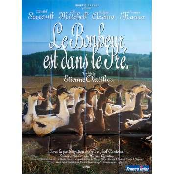 HAPPINESS IS IN THE FIELD Original Movie Poster - 47x63 in. - 1995 - Etienne Chatillez, Michel Serrault