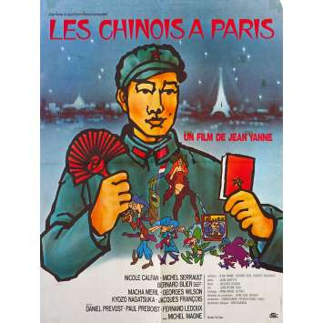 CHINESE IN PARIS Original Movie Poster - 23x32 in. - 1974 - Jean Yanne, Nicole Calfan