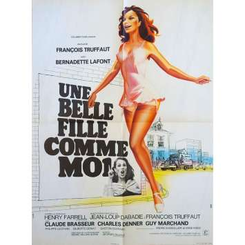 A GORGEOUS GIRL LIKE ME Original Movie Poster - 23x32 in. - 1972 - François Truffaut, Bernadette Lafont