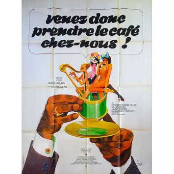 COME AND TAKE A COFEE WITH US Original Movie Poster - 47x63 in. - 1970 - Alberto Lattuada, Ugo Tognazzi