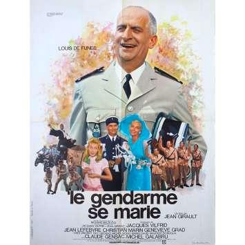 THE TROOPS GET MARRIED Original Movie Poster - 23x32 in. - 1968 - Jean Girault, Louis de Funès