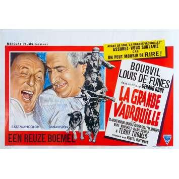 LA GRANDE VADROUILLE Affiche de film - 35x55 cm. - 1966 - Bourvil, Louis de Funes, Gerard Oury