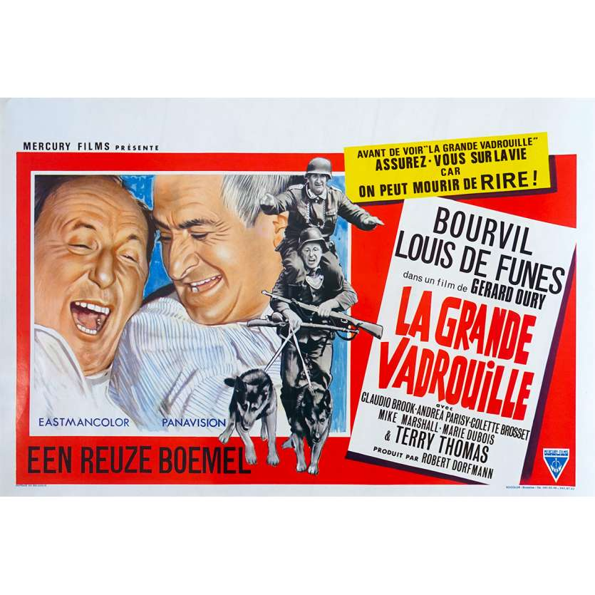LA GRANDE VADROUILLE Original Movie Poster - 14x21 in. - 1966 - Gerard Oury, Bourvil, Louis de Funes