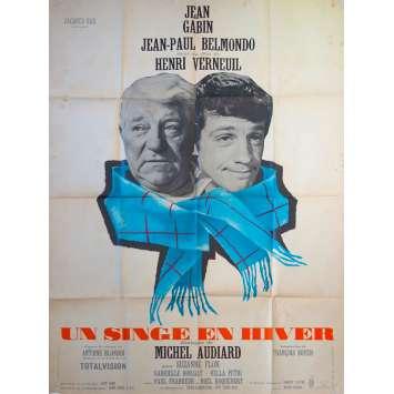 UN SINGE EN HIVER Affiche de film - 120x160 cm. - 1962 - Jean-Paul Belmondo, Henri Verneuil