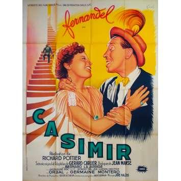THREE FEET IN A BED Original Movie Poster - 47x63 in. - 1950 - Richard Pottier, Fernandel