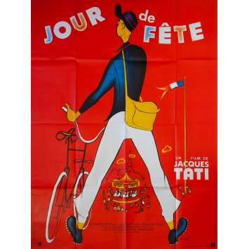 JOUR DE FETE Original Movie Poster - 47x63 in. - R1970 - Jacques Tati, Paul Frankeur