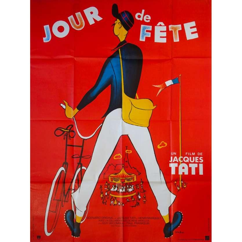 JOUR DE FETE Original Movie Poster - 47x63 in. - R1970 - Jacques Tati, Paul Frankeur