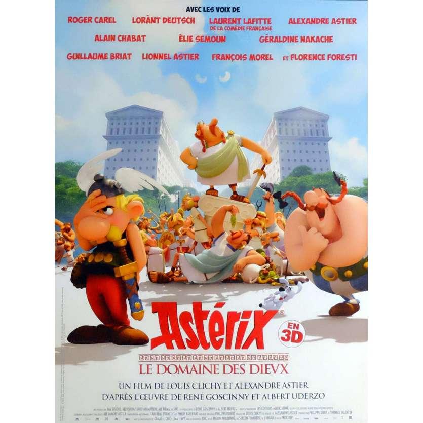 ASTERIX ET LE DOMAINE DES DIEUX French Movie Poster 15x21 - 2014 - Uderzo, Roger Carel