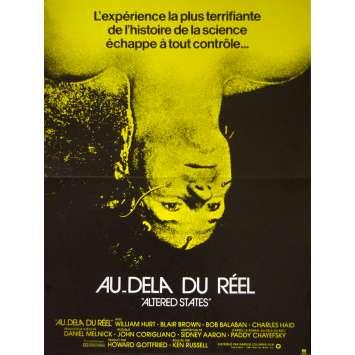 AU DELA DU REEL Affiche de film 40x60 - 1981 - Type B William Hurt, Ken Russel