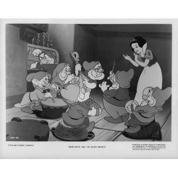 BLANCHE NEIGE ET LES 7 NAINS Photo de presse N05 20x25 cm - 1937 / R1975 - Walt Disney, Walt Disney