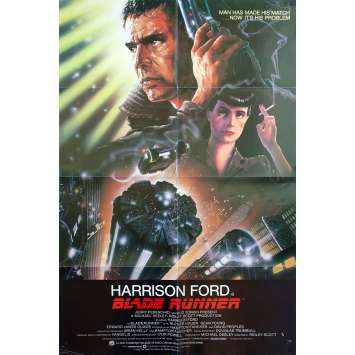 BLADE RUNNER Original Movie Poster - 27x41 in. - 1982 - Ridley Scott, Harrison Ford
