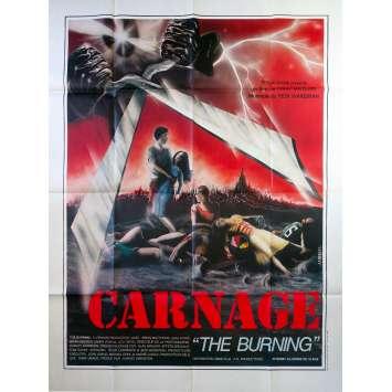 CARNAGE Affiche de film - 120x160 cm. - 1981 - Brian Matthews, Tony Maylam